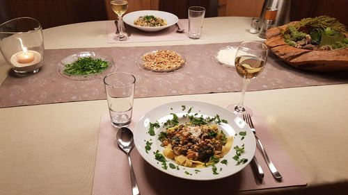 Pasta mit Kichererbsen, Champignons & Walnusstopping beim Friday-Evening-Cooking mit AOK und WLV
